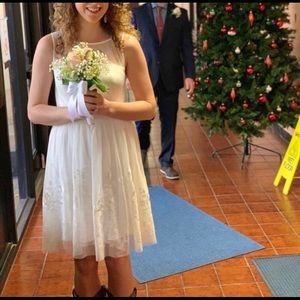 David's Bridal Short Wedding Dress